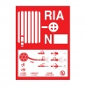 "Plaque ""symbole / mode d'emploi RIA"" 150 X 200 - 19.12.275"