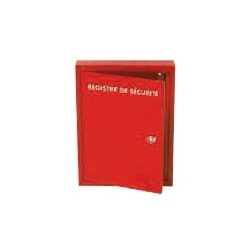 Coffret métallique pour Registre de sécurité en Classeur ou Livret