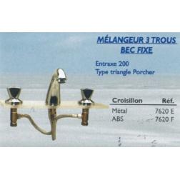 Mélangeur Lavabo 3 trous Ecartement 200 mm -7620E