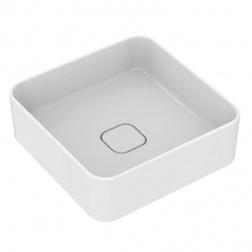 Vasque gré carrée à poser STRADA II 40 X 40 Blanc T 296301