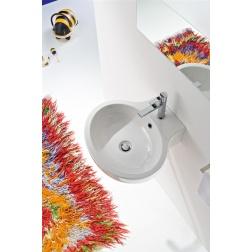 Lavabo PLANET à poser ou suspendu 48 x 47 cm Blanc - Art 8110
