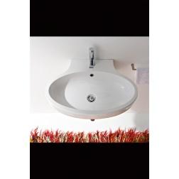 Lavabo à poser ou suspendu PLANET 67 x 47 Blanc - Art 8109