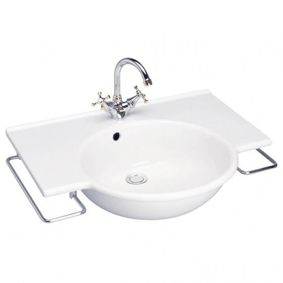 Lavabo plan SAPHO + Porte-serviette chromé - P 9243 01