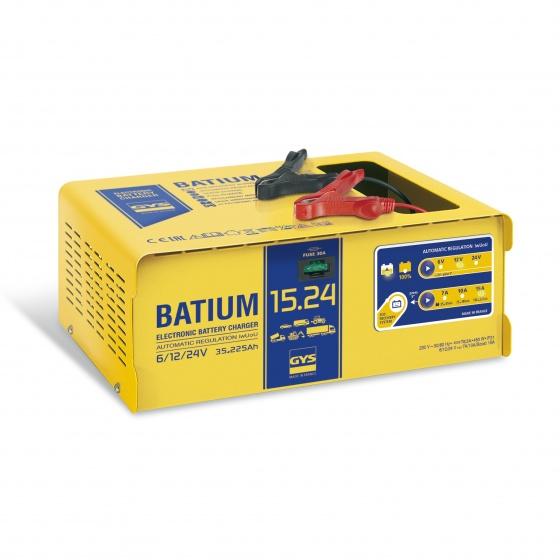 Chargeur Automatic BATIUM 15/ 24 pour batterie 6 / 12 / 24 V - 024526