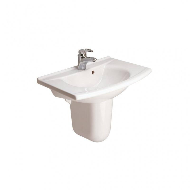 lavabo matura 65 x 50 avec trop plein p1363 01 blanc discount negoce com. Black Bedroom Furniture Sets. Home Design Ideas