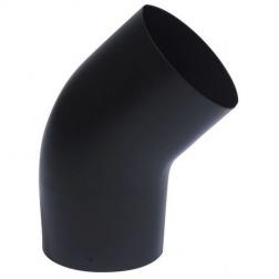 Coude 45° Noir Mat