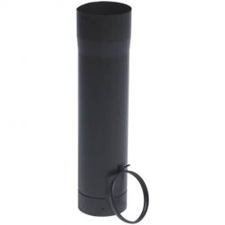 Tuyau télescopique 50 cm bague Noir Mat