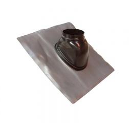 Solin plomb 5° à 30° etancheité de toiture Noir Ø 80 / 125