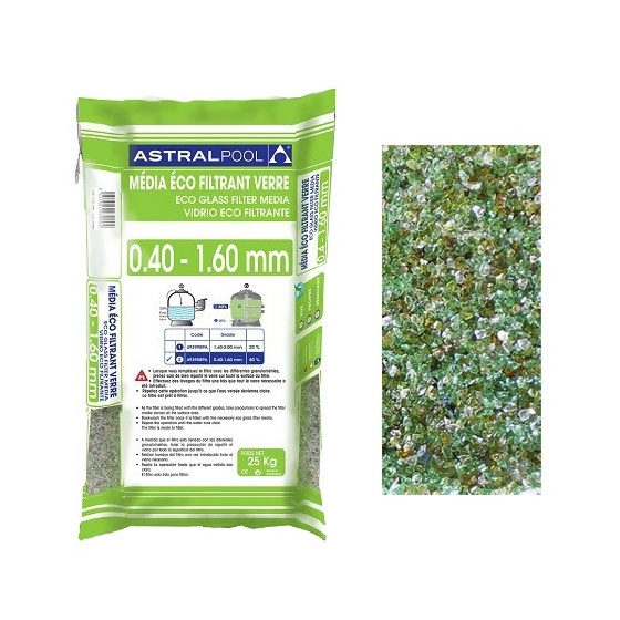 Verre Eco Filtrant de 0.4 à 1.60 mm - sac 25 kg