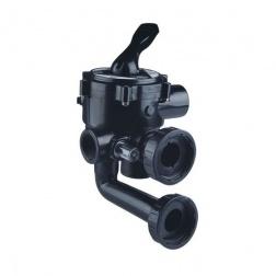 Vanne Multivoies à visser noire 1 Pouce1/2 SIDE - 43009