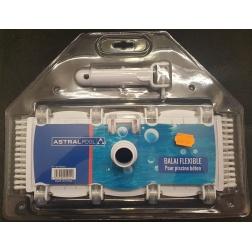 Balai Flexible 35 cm Piscine Béton 8 Roues Blue Line 69661