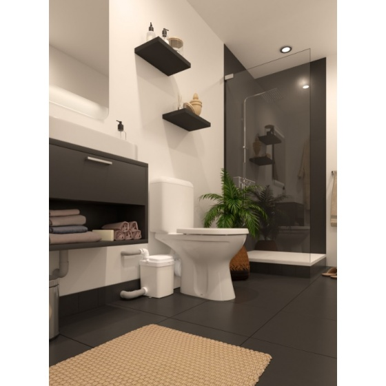 Broyeur W 12 Pro adaptable pour cuvette WC existante