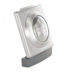 Bouton plastron gris ressort - 90188