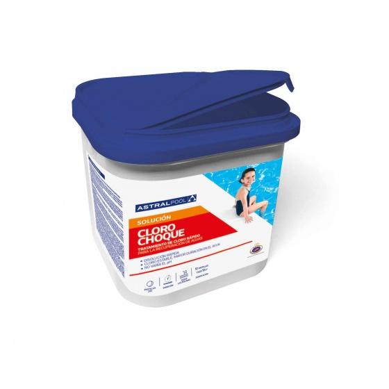 Chlore CHOC Granulés 56 % Stabilisés - Bidon 5 kg