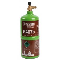 Bouteille de réfrigérants R407c rechargeable 900 gr - COR30008