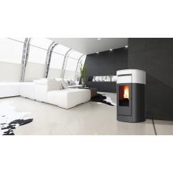 Thermopoele à Pellet VYDA H 18 Céramique Blanc creme 18.7 kw - 805190