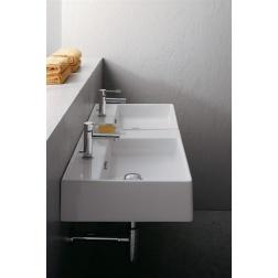 Lavabo TEOREMA 105 R double à poser 106 x 46 cm - Art 8035 Blanc