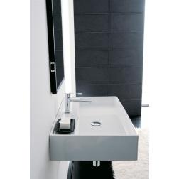 Lavabo TEOREMA 80 R 80 x 46 à poser ou suspendu - Art 8031/R-80 - Blanc