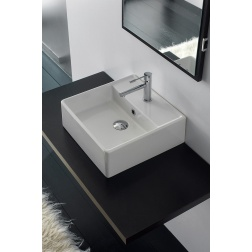 Lavabo TEOREMA 46R à poser ou suspendu 46 X 46 Blanc - Art 8031/R