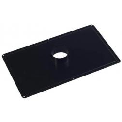 Plaque de Propreté pour plafond Noir mat 300 x 500 - Ø 80 mm - 128080