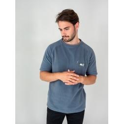 Tee-shirt polaire MONT HUTT avec poche verticale GRIS