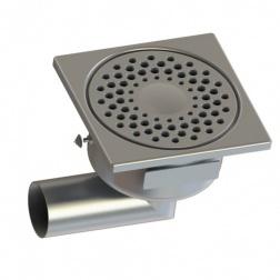 Siphon de Sol Inox 150 x 150 Horizontal Ø 50 mm - 1550L