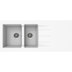 Évier à poser ONTARIO composite SMC 1400 X 600 X 38 - EPRD140R17D