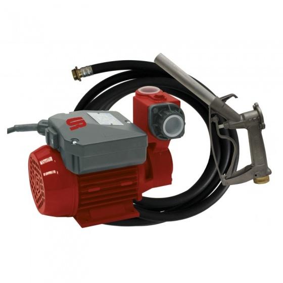 Pompe Fuel 34 l/mm sur Secteur + Tuyau et Pistolet aluminium