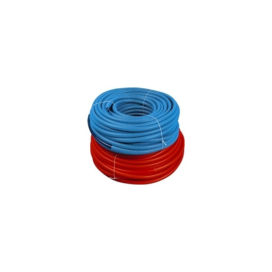 Tube P E R Rouge Ø 13 X 16 simple Prégainé - Rlx 50 m
